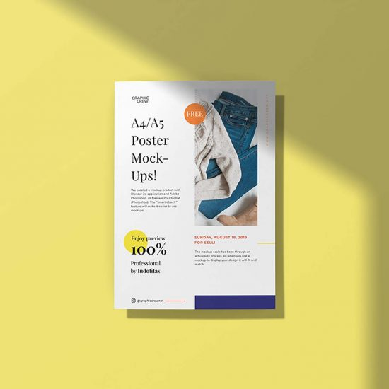 Free-A4-Poster-Mockup